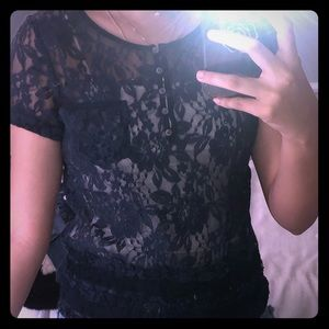 Cute lace top from hollister
